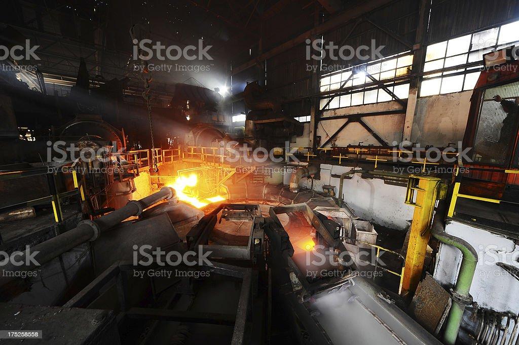 Making steel panels royalty-free stock photo