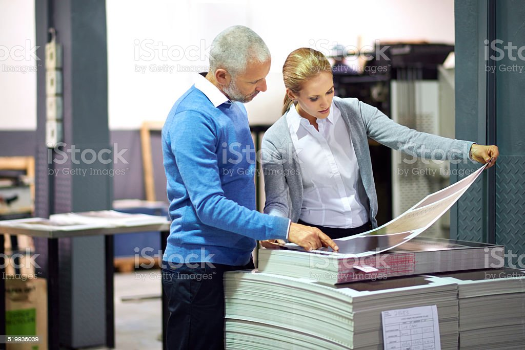 Making sure every little nuance is perfect stock photo