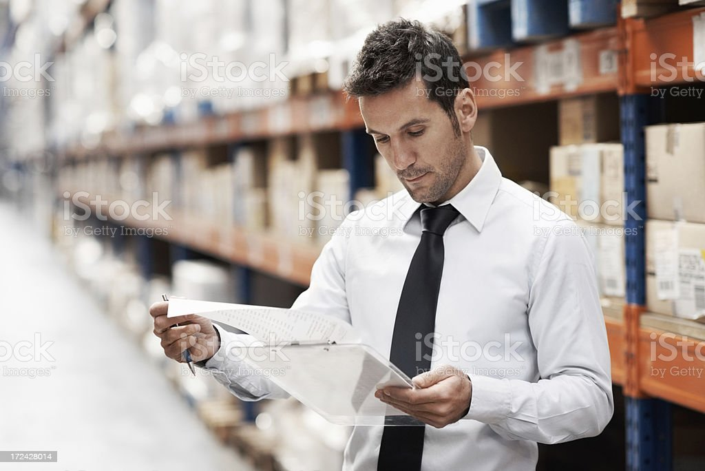 Making sure everything is accounted for royalty-free stock photo