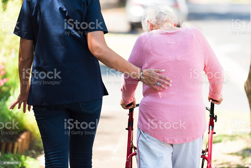 Making Sure My Patient Is Well Cared For stock photo