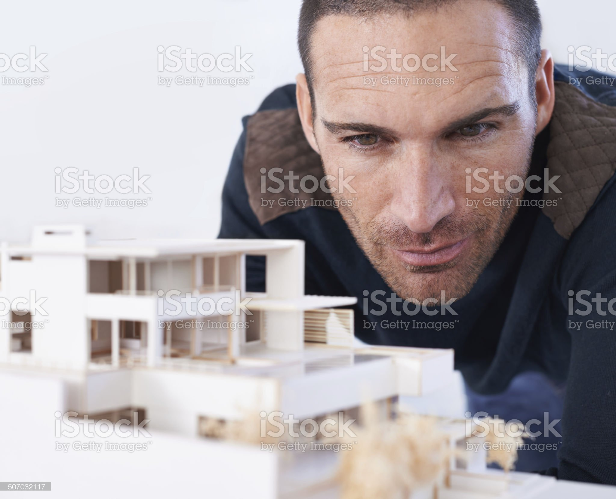 Making sure that every detail is perfect royalty-free stock photo