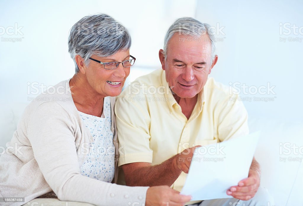 Making sure the bill is correct royalty-free stock photo