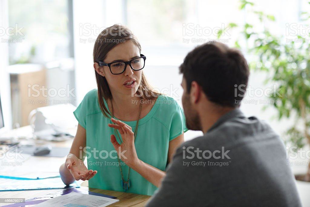Making sure the picture is clear stock photo