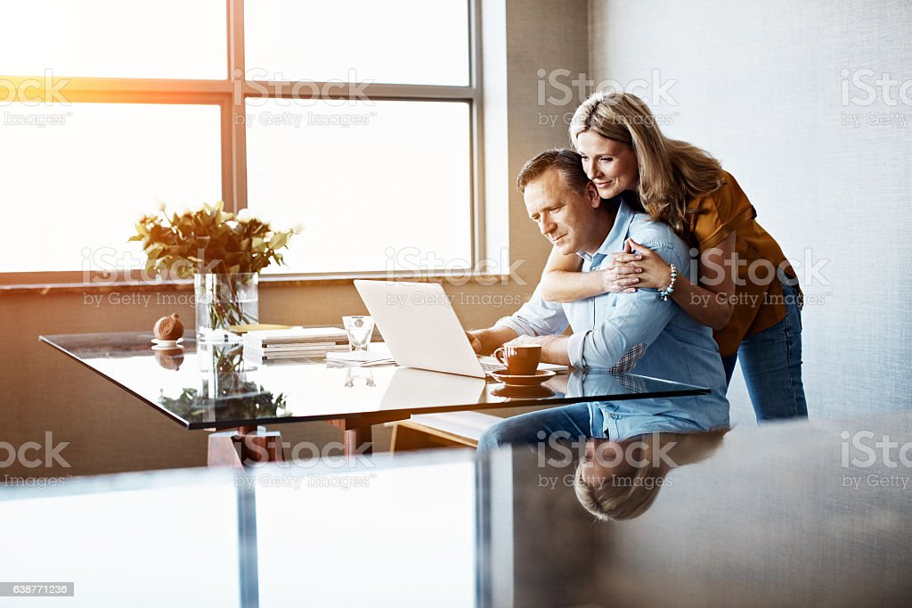 Making sure they're taken care of stock photo