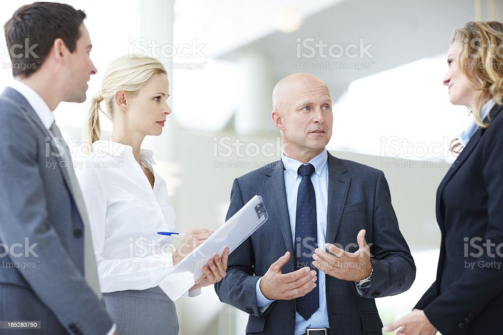 Making sure we share a common strategy royalty-free stock photo