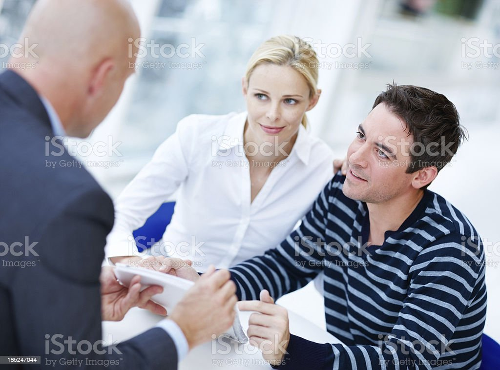 Making sure we understand every detail of the plan stock photo