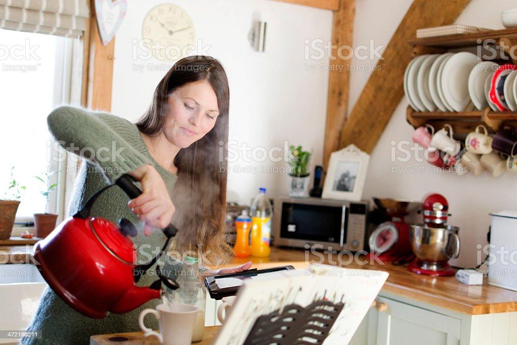 Making Tea stock photo