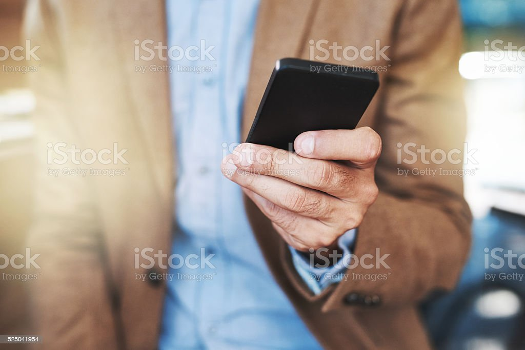 Making the android connection stock photo