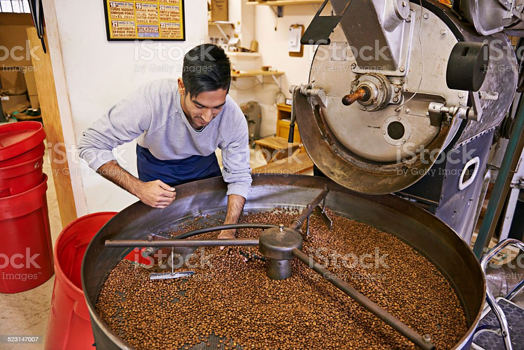 Making the best roast possible stock photo