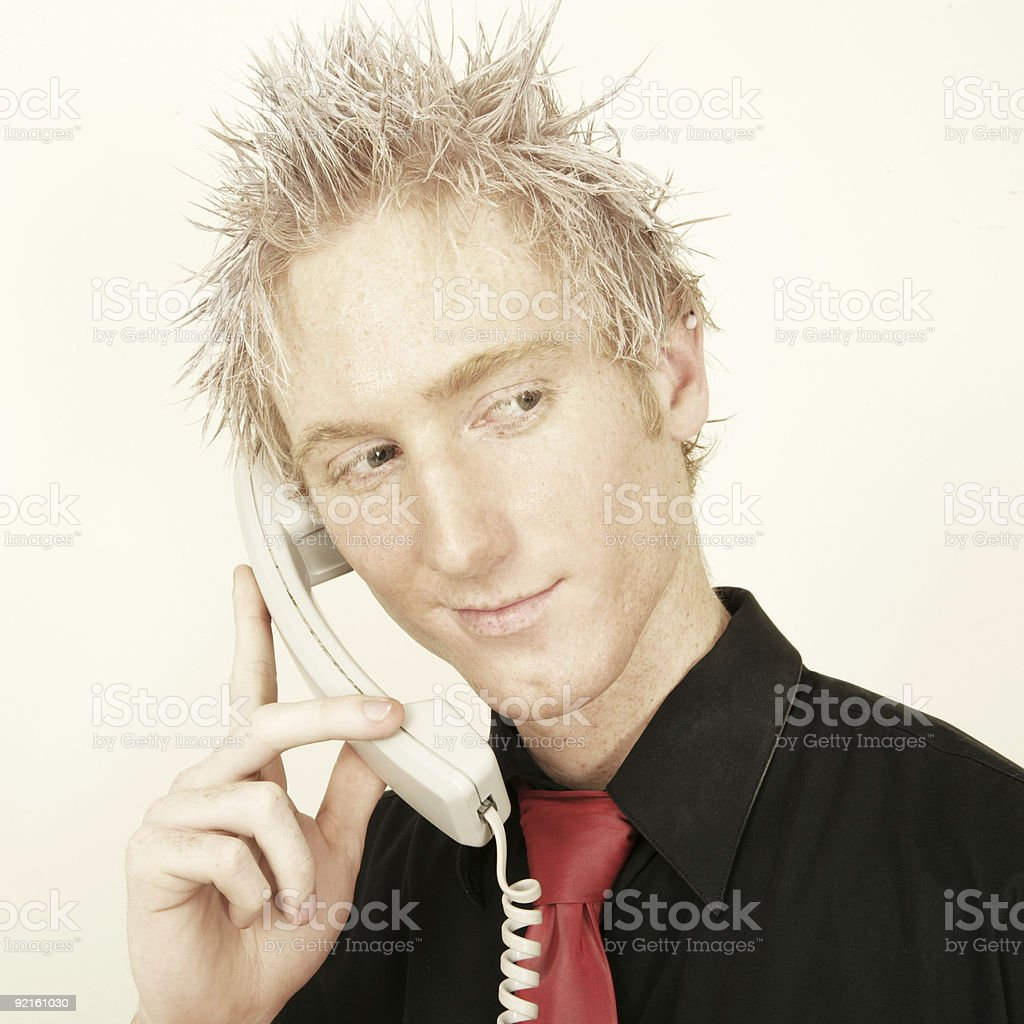 Making the Call royalty-free stock photo