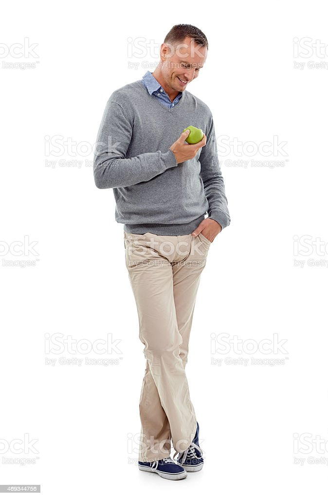 Making the healthy choice! stock photo