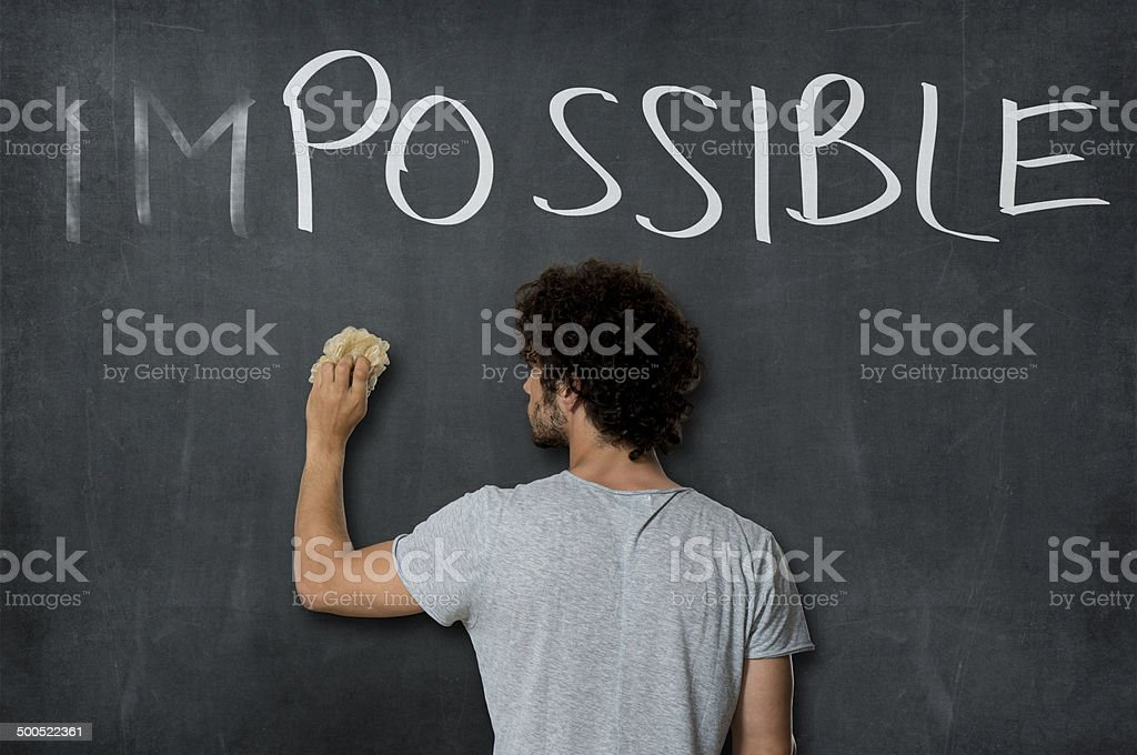 Making the impossible Possible stock photo