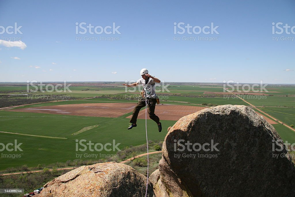 Making the leap royalty-free stock photo