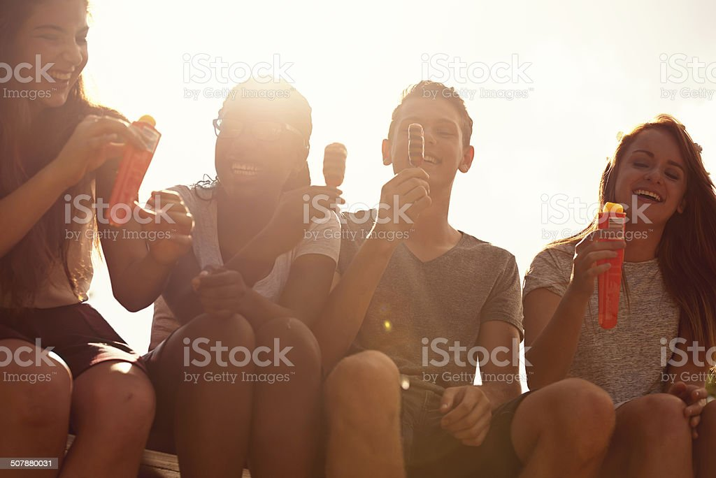Making the most of the summer heat stock photo