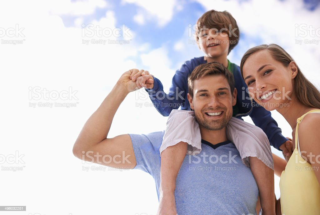 Making the most of their holiday stock photo