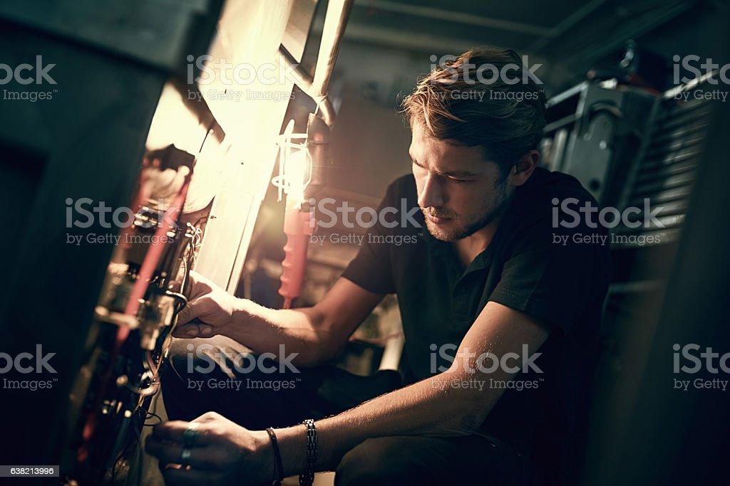 Making the necessary adjustments stock photo