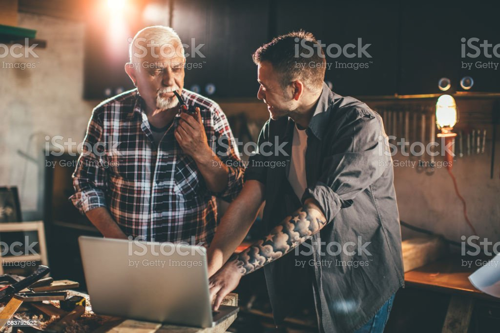 Making the part... stock photo