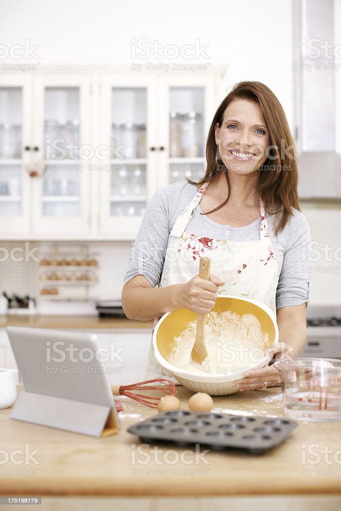 Making the perfect baked treat royalty-free stock photo