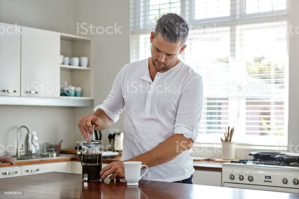 Making the perfect brew stock photo
