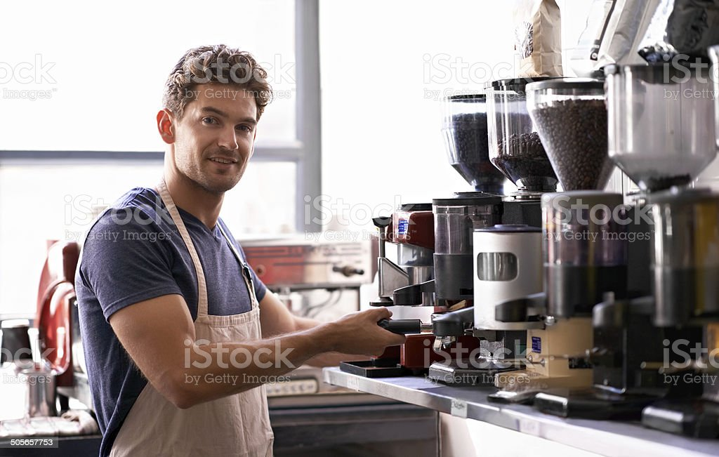 Making the perfect cup... stock photo