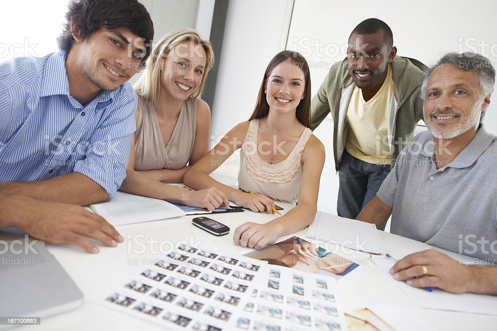 Making the right decisions as a team royalty-free stock photo