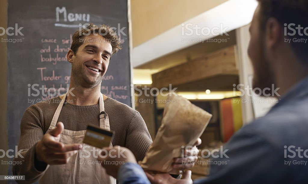 Making the sale stock photo