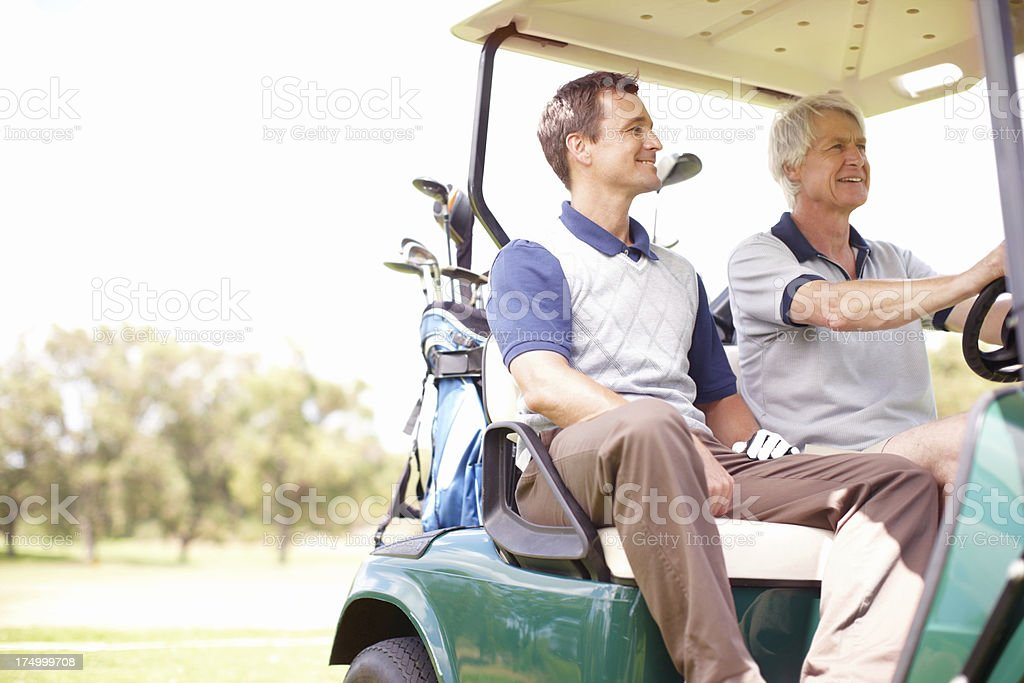 Making their way to the next hole royalty-free stock photo