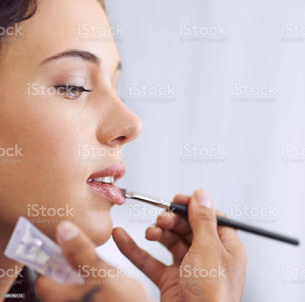 Making these lips look plump and luscious royalty-free stock photo