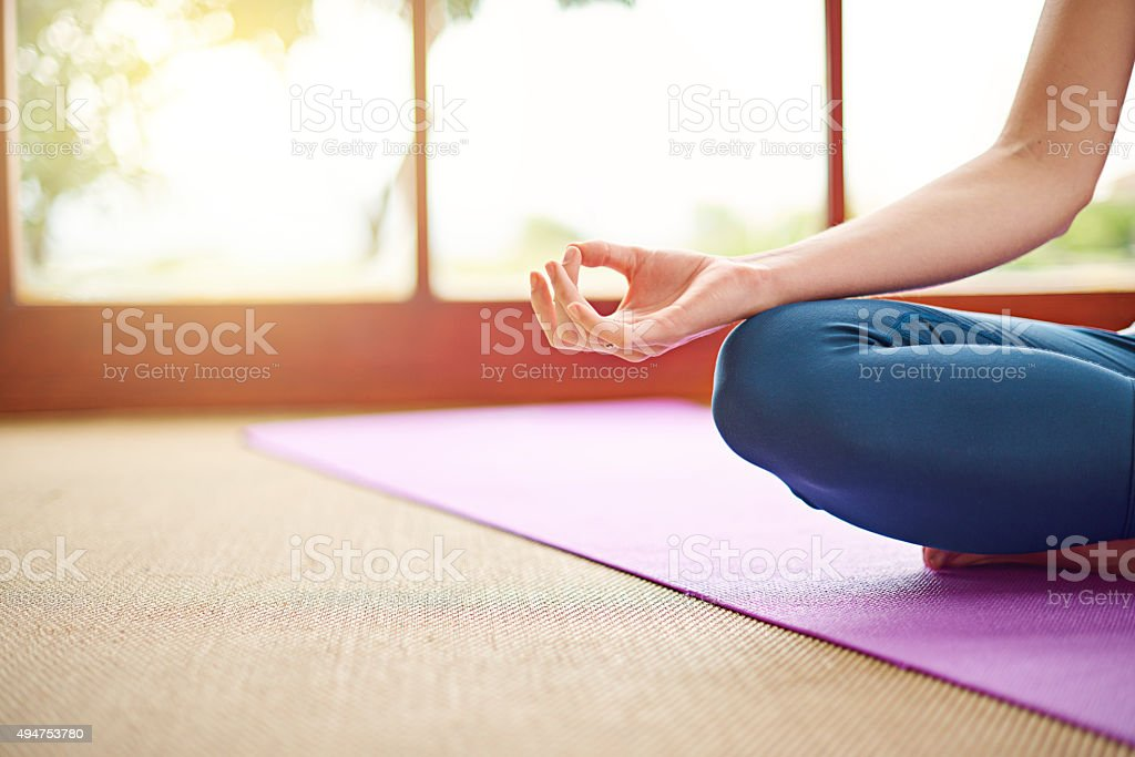 Making time to meditate stock photo