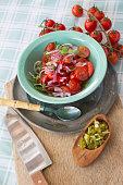 Making Tomato Chilli Salsa