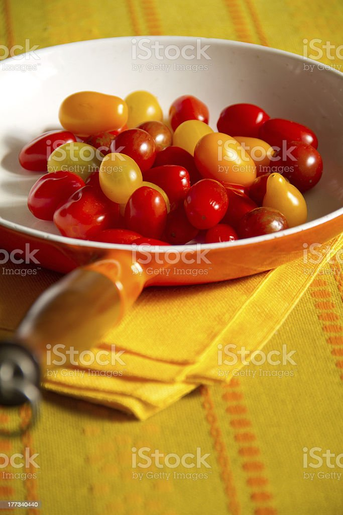 Making Tomato Sauce with Fresh Tomatoes royalty-free stock photo