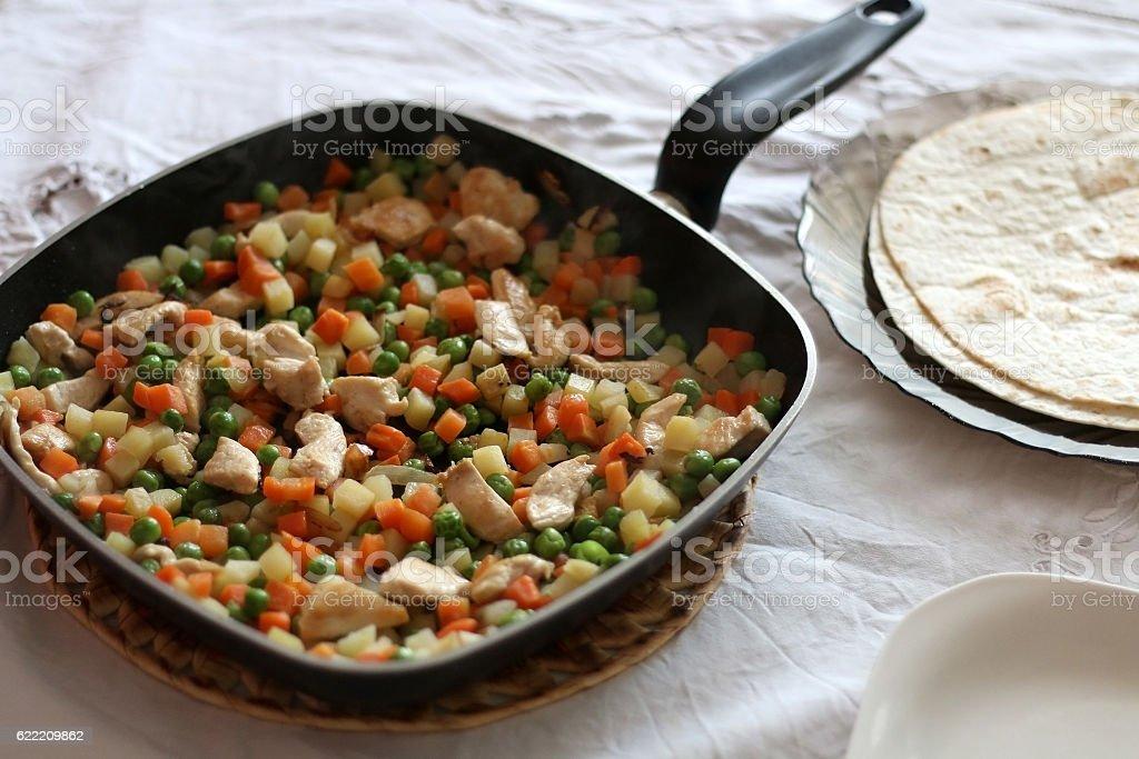 Making Tortillas stock photo