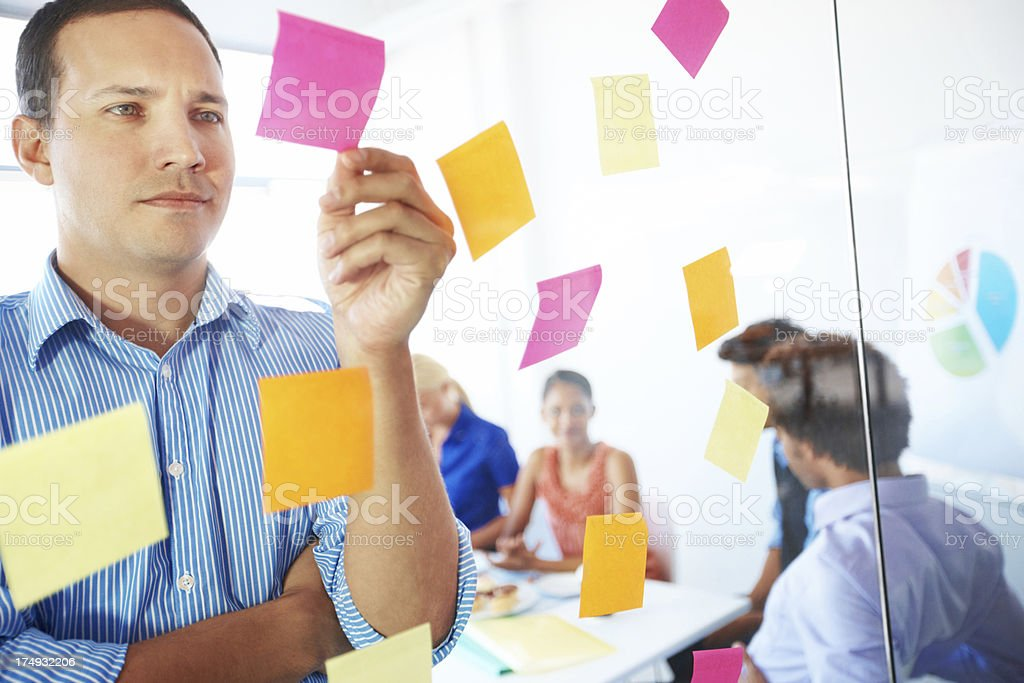 Making tough decisions is his responsibility royalty-free stock photo