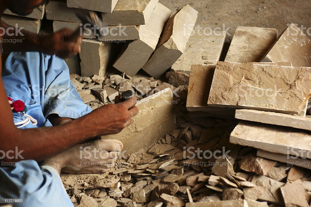 Making Uneven surface royalty-free stock photo