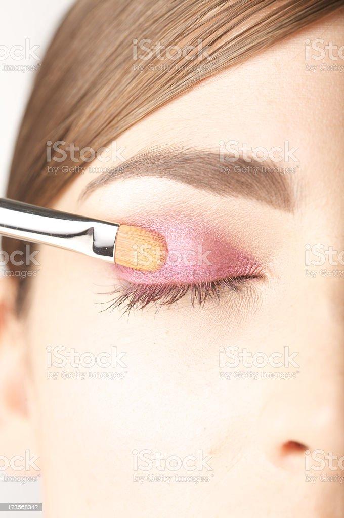 Making up eye stock photo
