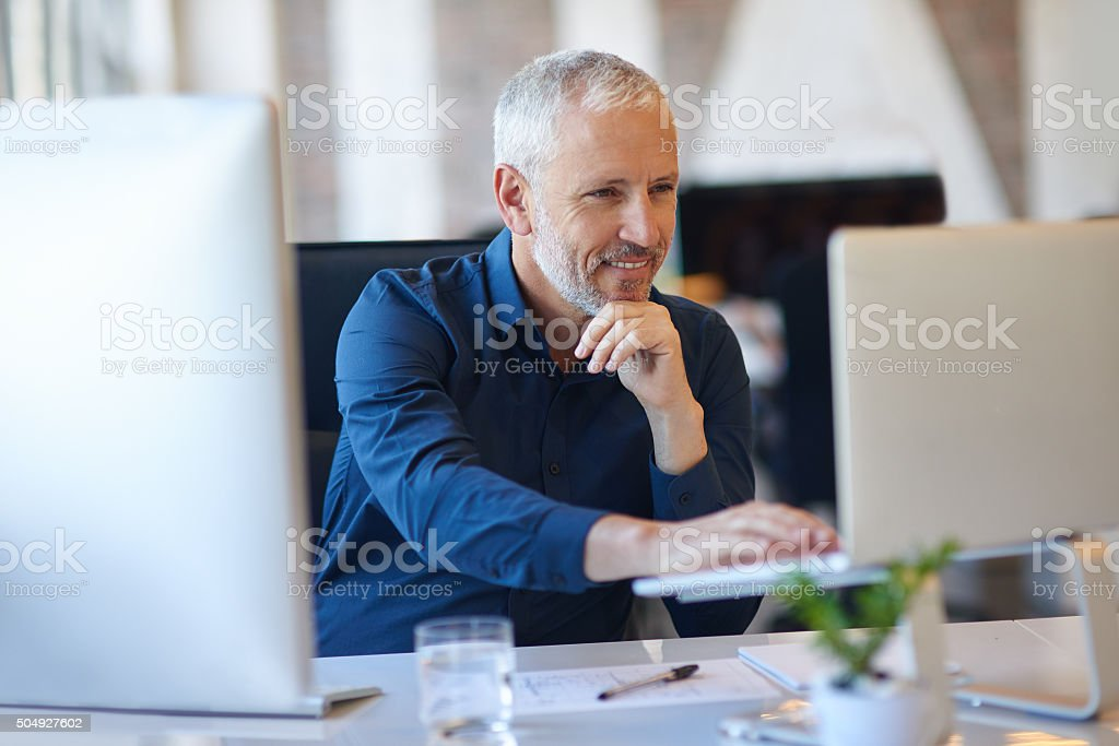 Making use of online resources stock photo