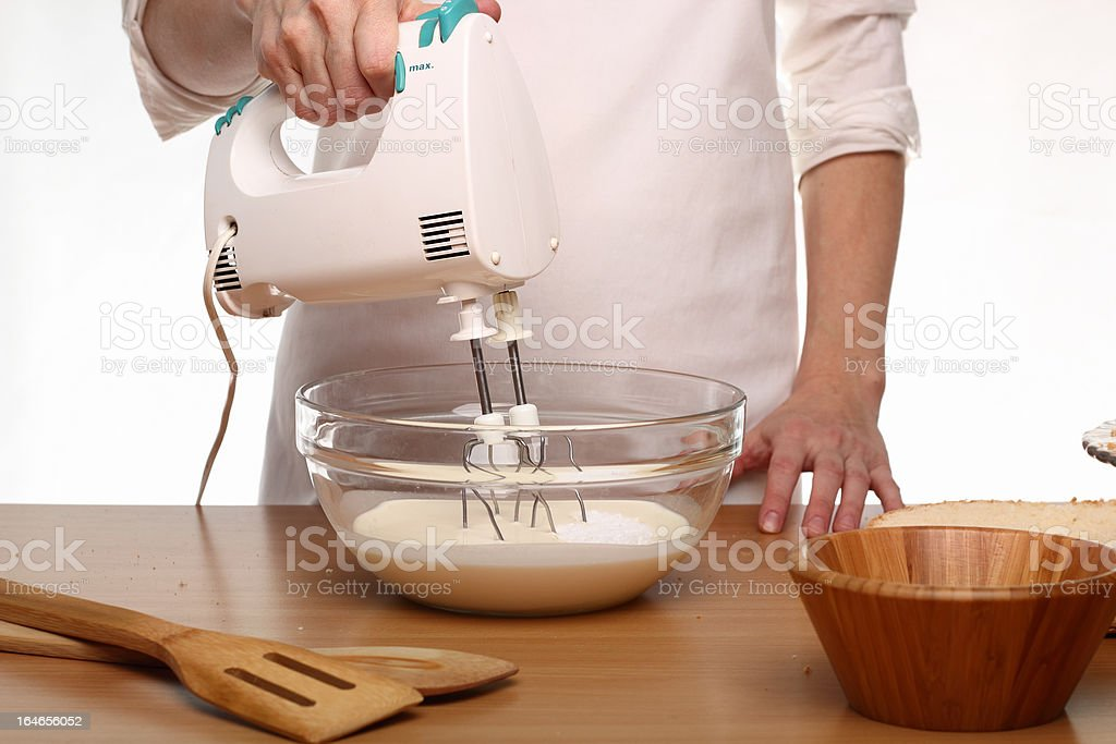 Making Victoria Sponge Cake. Series. royalty-free stock photo