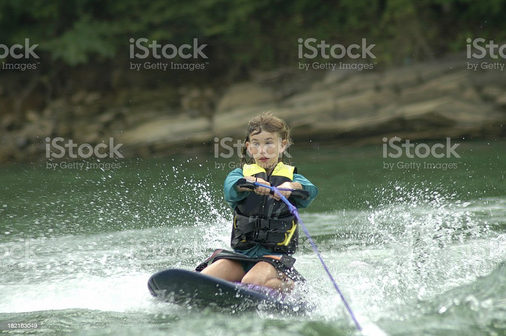 Making Waves Kneeboarding stock photo