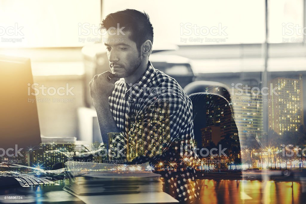 Making wise decisions stock photo