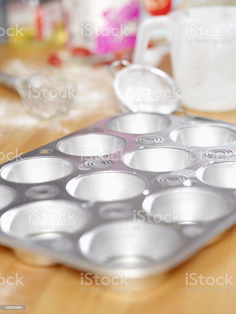 Making Yorkshire Pudding royalty-free stock photo