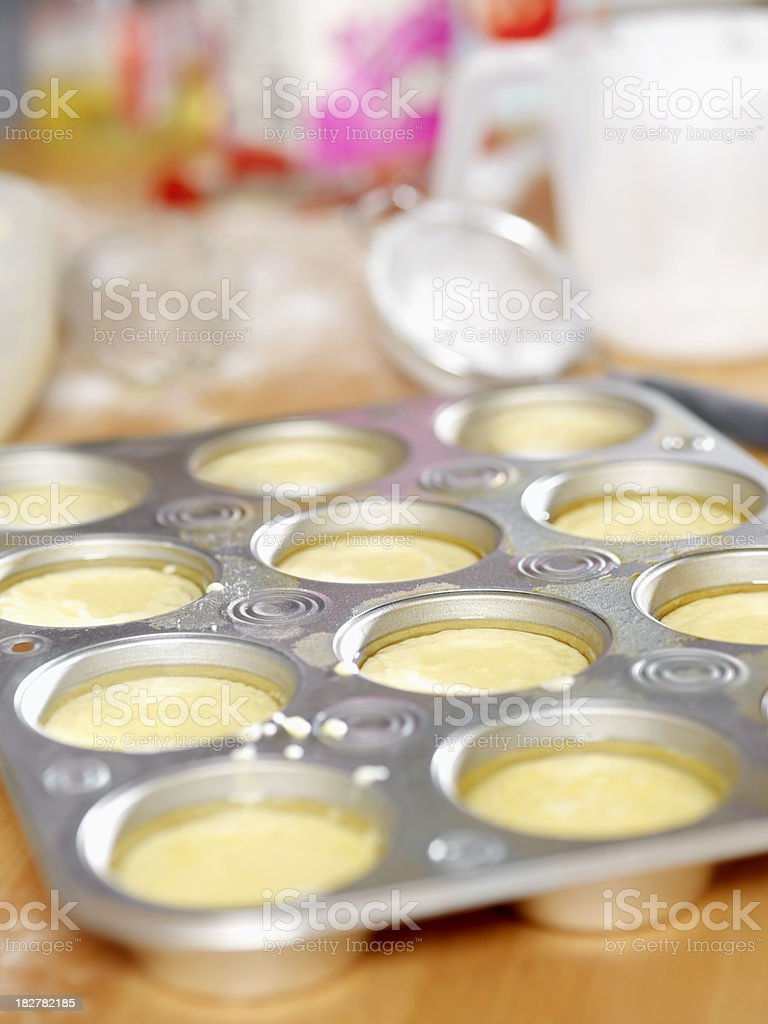 Making Yorkshire Pudding royalty-free stock photo