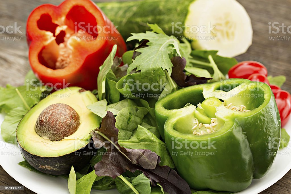 Makings For A Fresh Salad royalty-free stock photo