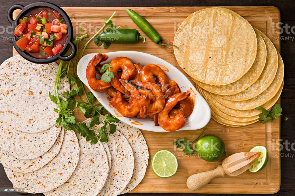Makings For Shrimp Tacos stock photo