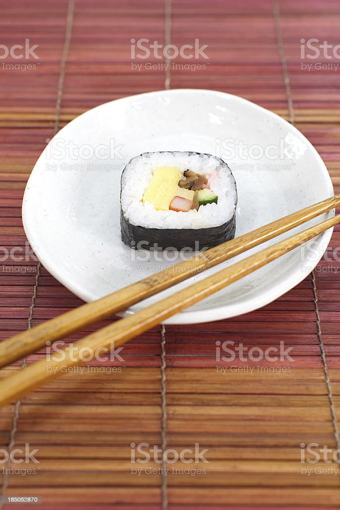 Makizushi Delicious sushi rolls royalty-free stock photo