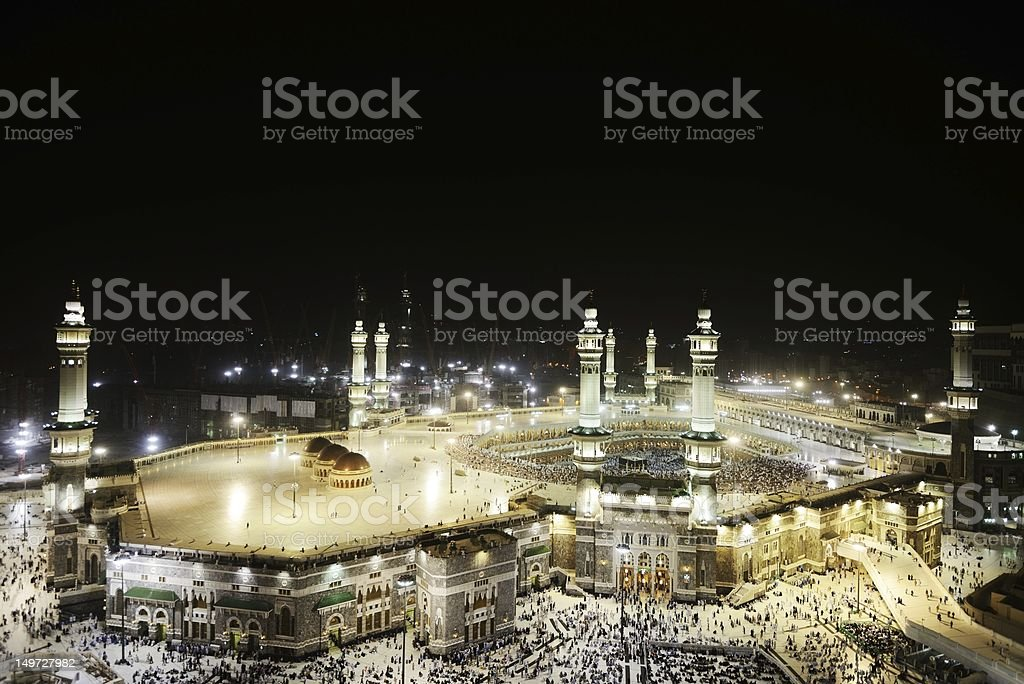Makkah Kaaba holy mosque stock photo