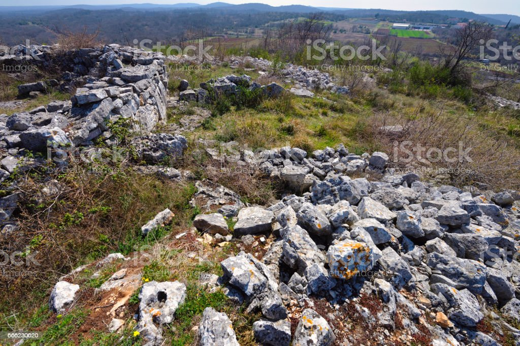 Maklavun, remains of a tholos stock photo