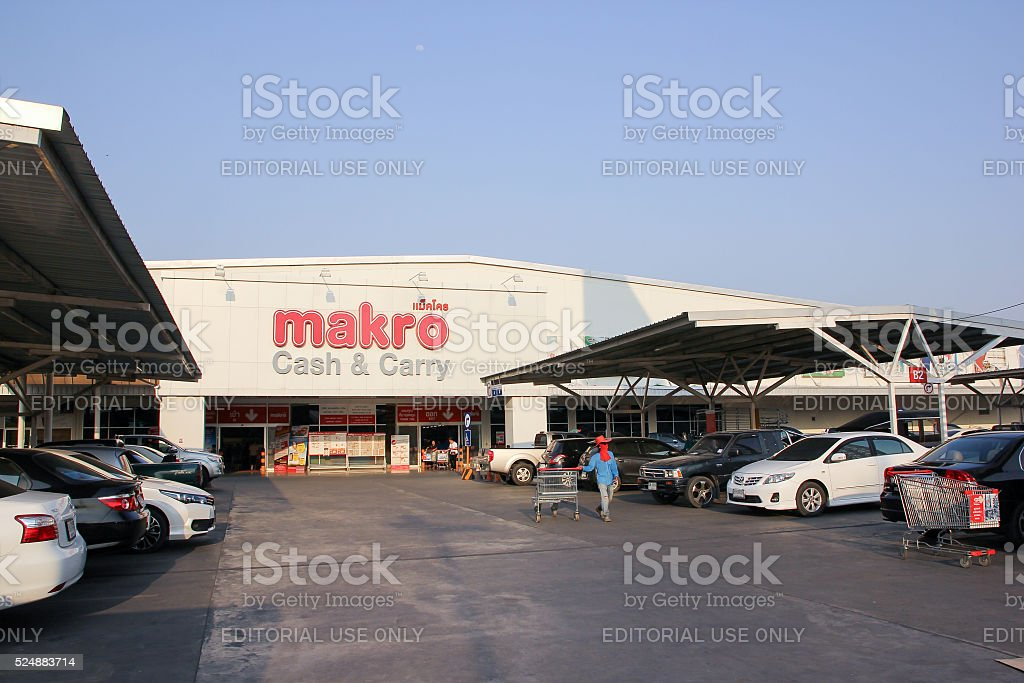 Makro Hypermarket Maerim stock photo