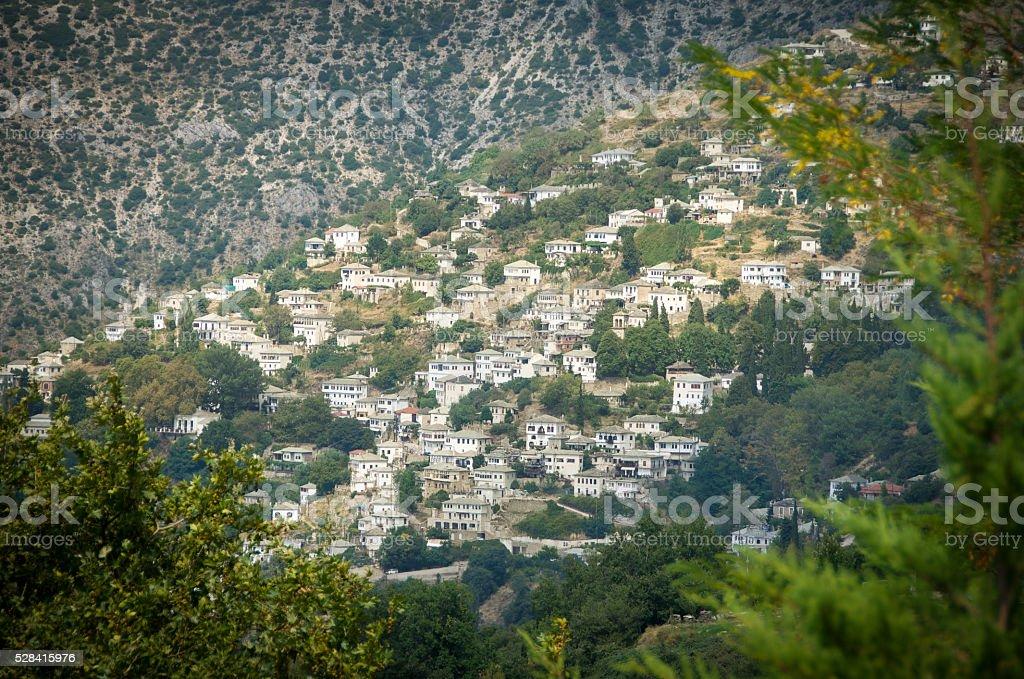 Makrynitsa Village stock photo