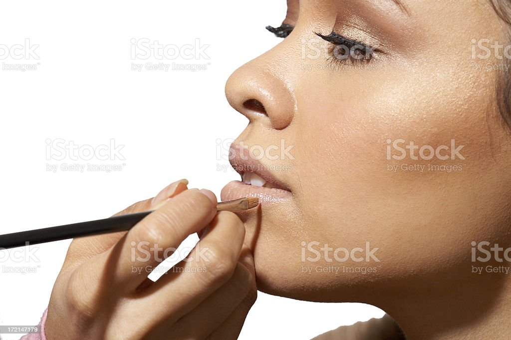 makup artist at work #2 royalty-free stock photo