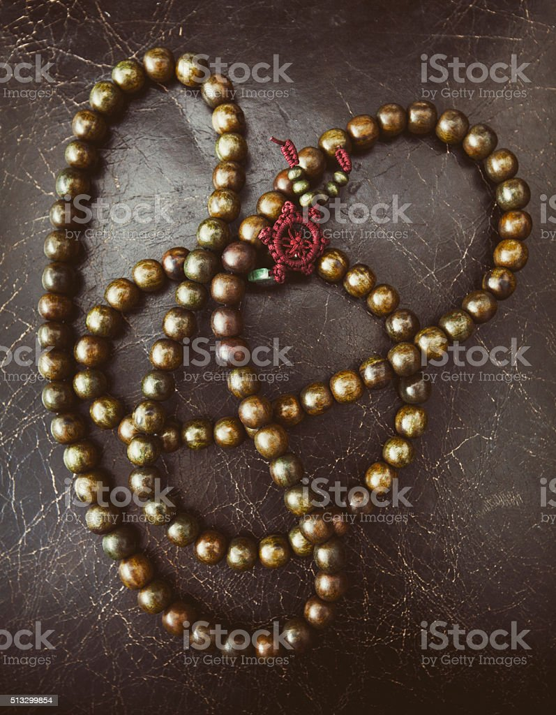 Mala Bead Necklace stock photo